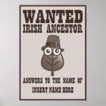 Querido - antepasado irlandés impresiones