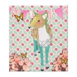 Querido arte floral de la lona de los ciervos impresion de lienzo