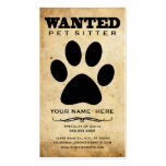 querido: canguro del mascota tarjeta de visita