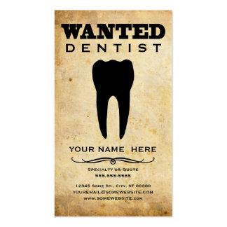 querido: dentista tarjetas de visita