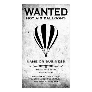 querido: globos del aire caliente plantillas de tarjeta de negocio