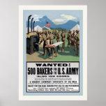 ¡Querido! guerra mundial del vintage del ~ de los  Poster