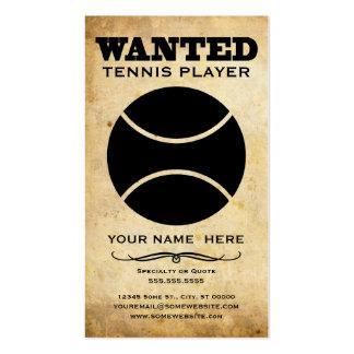 querido: jugador de tenis tarjetas de visita