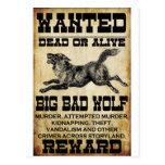 Querido: Mún lobo grande Tarjeta Postal