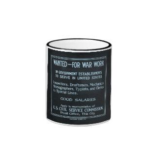 Querido para la Primera Guerra Mundial del vintage Taza De Dos Colores