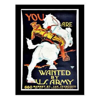 Querido por Ejército del EE. UU. Tarjetas Postales