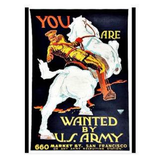 Querido por Ejército del EE. UU. Tarjeta Postal