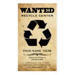 querido: recicle el centro tarjetas de visita