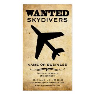 querido: skydivers tarjetas de visita