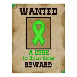 Querido: Una curación para el cáncer del riñón Postal