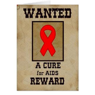 Querido: Una curación para el SIDA Tarjeta De Felicitación