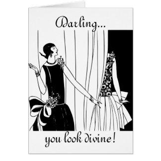 Querido, usted parece divino: Tarjeta de cumpleaño