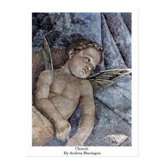 Querube de Andrea Mantegna Postal