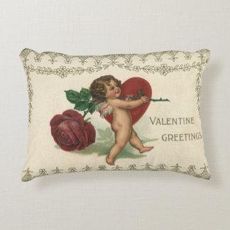Querube de la tarjeta del día de San Valentín del Cojín