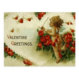 Querube de las tarjetas del día de San Valentín Tarjetas Postales