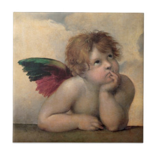 Querube de Sistine Madonna por Raphael Azulejo Ceramica