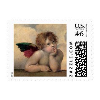 Querube de Sistine Madonna por Raphael