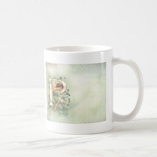 Querube del alfabeto taza de café
