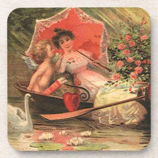 Querube del día de San Valentín del Victorian del Posavasos De Bebidas