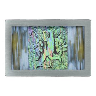 Querube ornamental hebilla cinturon rectangular