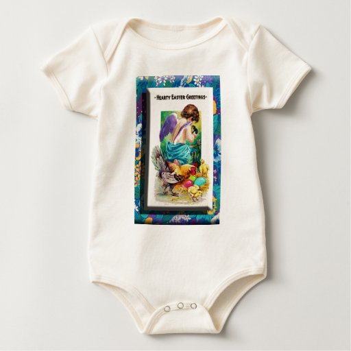 QUERUBE Y CHICKS.jpg del ~ de PASCUA Body Para Bebé