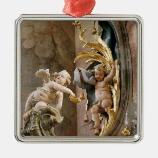 Querubes, 1737-66 adorno navideño cuadrado de metal