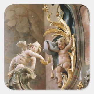 Querubes, 1737-66 pegatina cuadrada