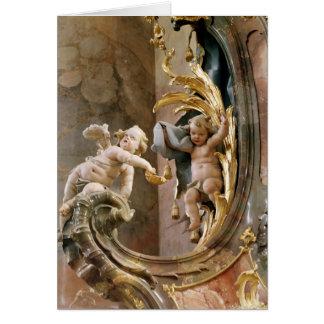 Querubes, 1737-66 tarjeta de felicitación