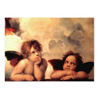 """Querubes 2 de los ángeles invitación 5"""" x 7"""""""