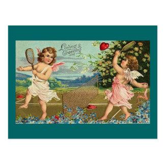 Querubes cariñosas de la tarjeta del día de San Tarjeta Postal
