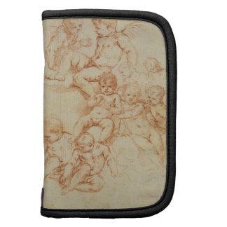 Querubes, comienzo del siglo XVII (tiza roja en el Planificadores