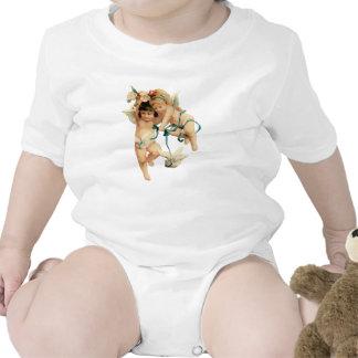 Querubes con la paloma traje de bebé