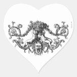 Querubes de la obra clásica dos con la hiedra y pegatina corazon