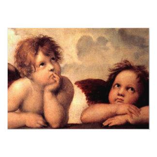 """Querubes de los ángeles invitación 5"""" x 7"""""""