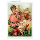Querubes del Victorian con la tarjeta del el día d