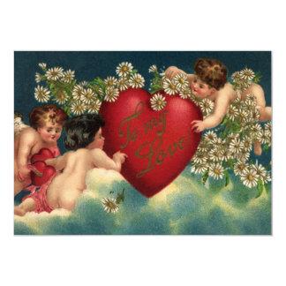 Querubes del Victorian del día de San Valentín del Invitacion Personal