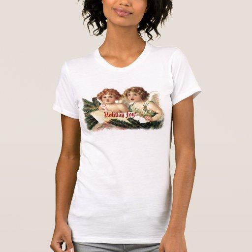 Querubes del vintage que cantan alegría del día de tshirts