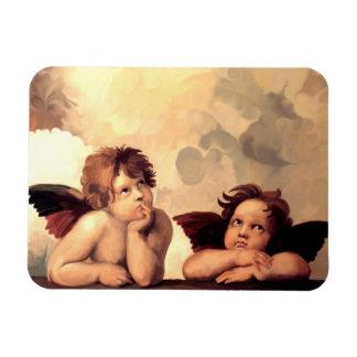 Querubes Raffaelo Sanzio de Sistine Madonna Imanes De Vinilo