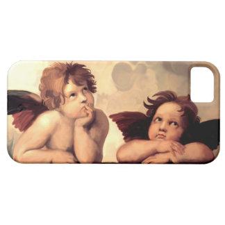 Querubes Raffaelo Sanzio de Sistine Madonna iPhone 5 Carcasa