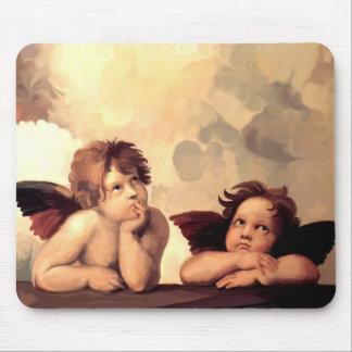 Querubes Raffaelo Sanzio de Sistine Madonna Tapete De Raton