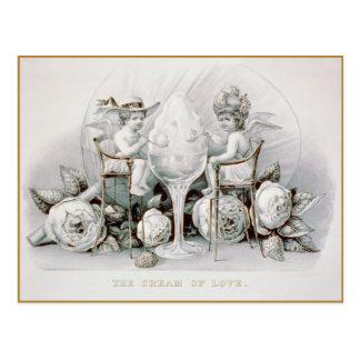 Querubes y helado: Tarjeta del día de San Valentín Postal