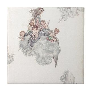 Querubes y los cuentos de hadas de Andersen de las Azulejos Cerámicos