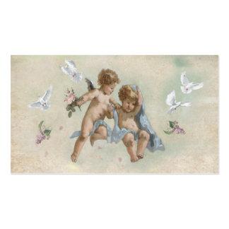 Querubes y palomas tarjetas de visita