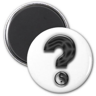 Query Yin and Yang Art 2 Inch Round Magnet