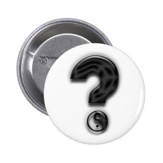 Query Yin and Yang Art Pins