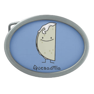 Quesadilla Mexican grilled Tortilla with Cheese Oval Belt Buckle