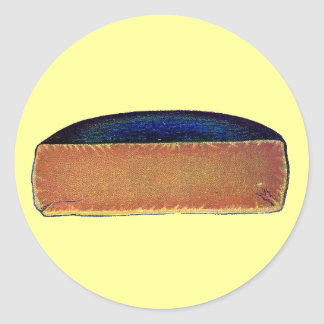 Queso antiguo de Gloucester del doble del vintage Pegatina Redonda