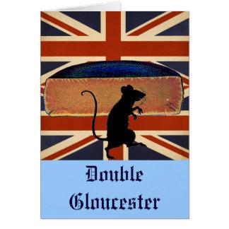 Queso antiguo de Gloucester del doble del vintage Tarjeta De Felicitación