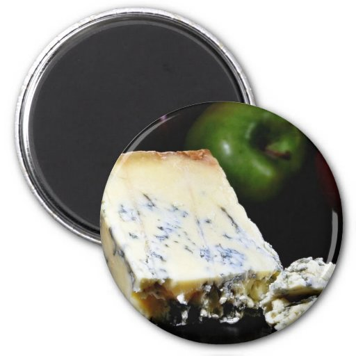 Queso azul de Stilton Imán Redondo 5 Cm