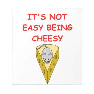 queso bloc de papel